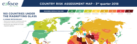 Country risk assessment map - October 2018