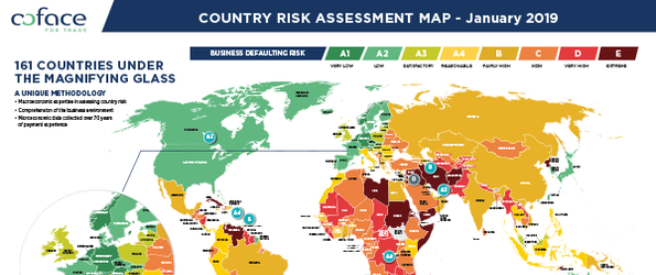 Coface Country Risk Map 01.2019