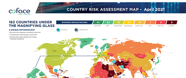 Coface Country Risk Map 4.2021