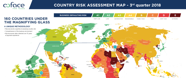 Coface Country Risk Map 10.2018
