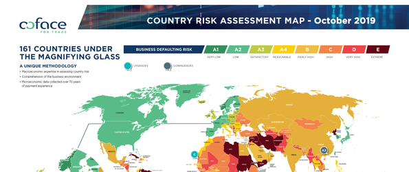 Coface Country Risk Map 10.2019