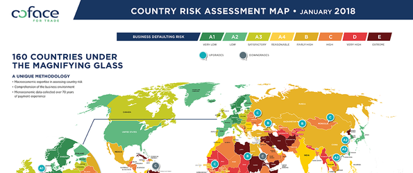 Coface Country Risk Map 01.2018
